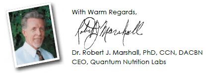 Dr. Robert J. Marshall, PhD, CCN, DACBN